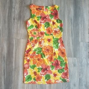 AGB Bright Floral Dress, Size 8